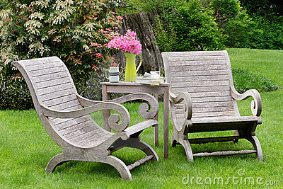 Wooden carden chairs
