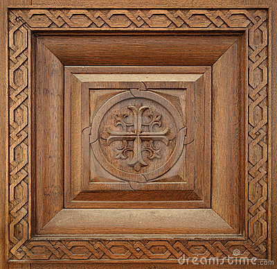 wooden-carving-seamless- ...