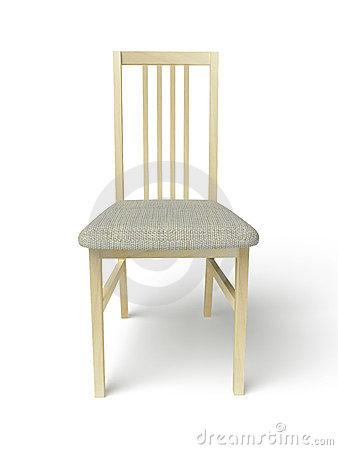 Wooden Chair With A Fabric Seat Stock Photos - Image: 23407793
