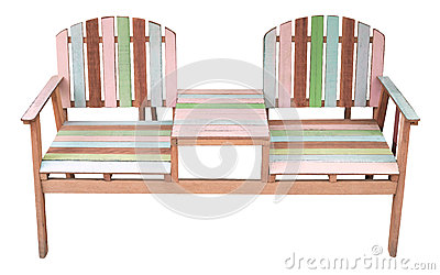 Wooden chair isolated white