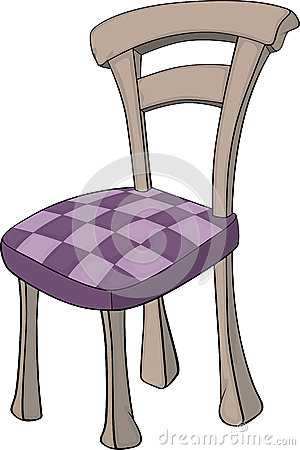 Wooden chair in sections