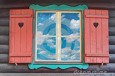 Wooden Chalet Window
