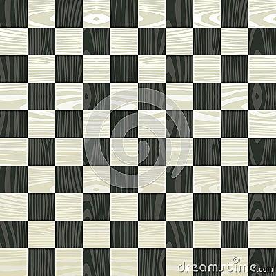 Wooden chess board pattern