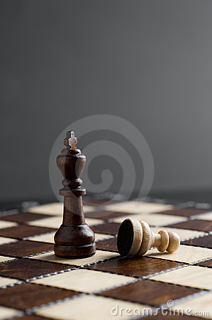 Wooden chess piece