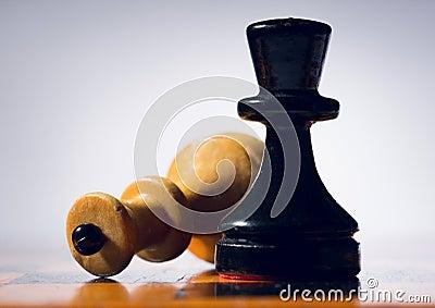 Wooden chessboard