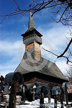 Wooden church of Ieud, Maramures, Romania
