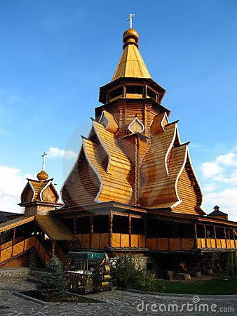 Wooden church in Izmaylovo Moscow Russia
