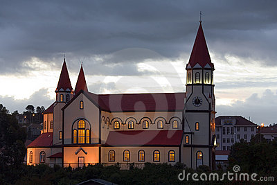 Wooden church in Puerto Montt - Chile