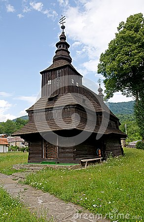 Wooden church in Rusky Potok