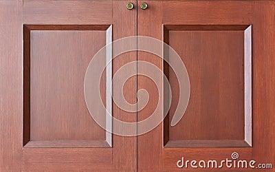 Wooden closet doors