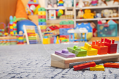 Wooden color toy Stock Photo