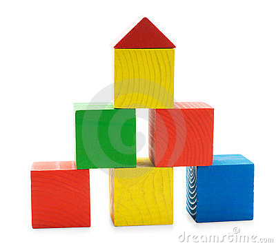 Free Wooden Colored Building Pyramid Of Cubes Toys Stock Photography - 23810922
