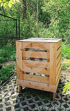 Free Wooden Compost Bin Stock Photo - 19605370