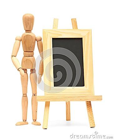 Wooden concept of mannequin