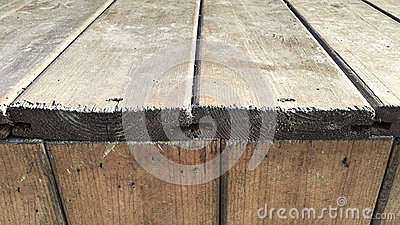 Wooden construction step detail