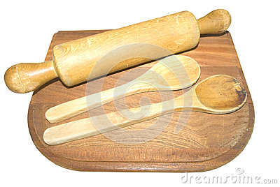 Wooden cooking utensils