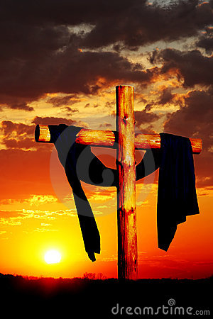 Free Wooden Cross On Sunset Stock Photography - 3546132