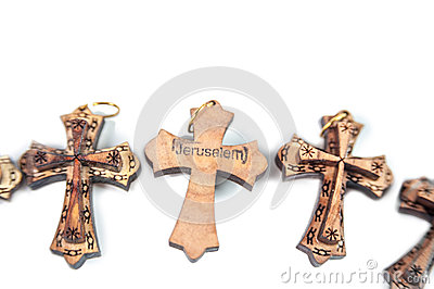 Wooden crosses