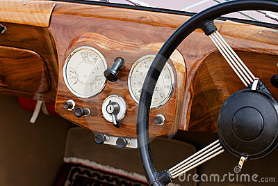 Wooden dashboard