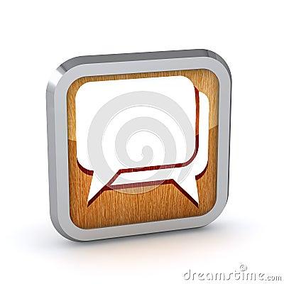 Wooden dialog icon