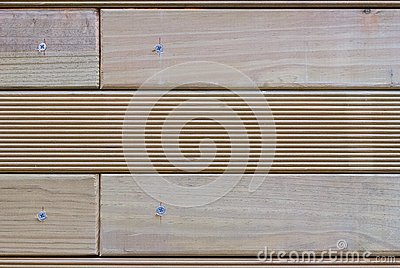 Wooden dies screwed Stock Photo