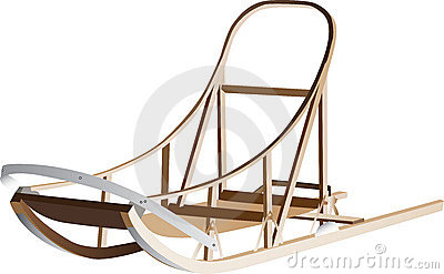 Wooden Dog Sleigh