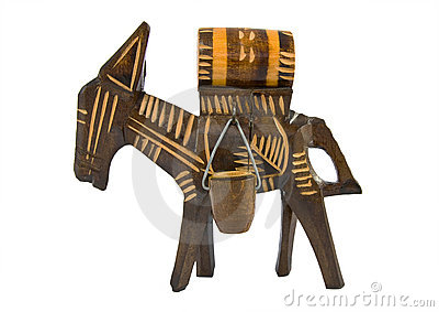 Wooden donkey