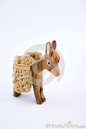 Wooden donkey souvenir