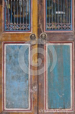 Wooden door aged