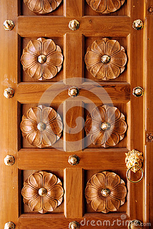 Wooden Door with Beautiful Carving Designs