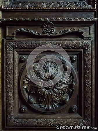 Wooden door fragment