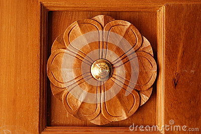 Wooden Door Frame with Beautiful Carving Designs