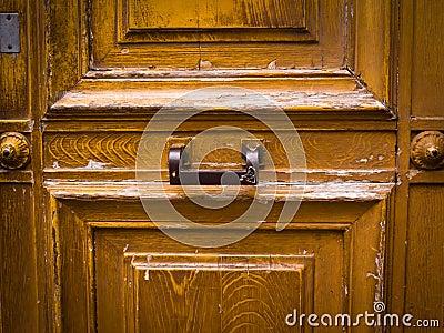 Wooden door grunge textures