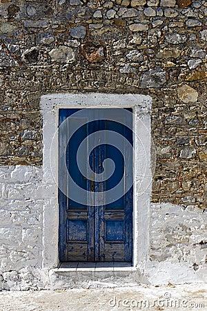Free Wooden Door In Greece Royalty Free Stock Photos - 34134098