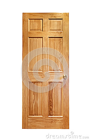 Free Wooden Door Isolated Stock Image - 27253261