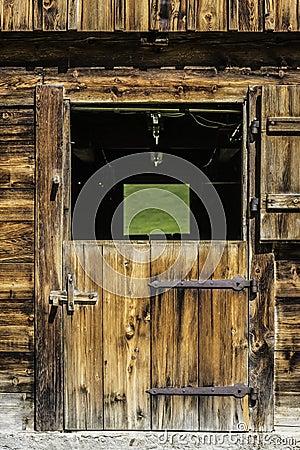 Free Wooden Door Of Stable Stock Images - 32365714
