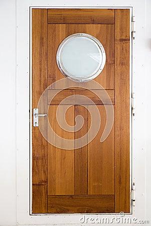 Wooden door on ship