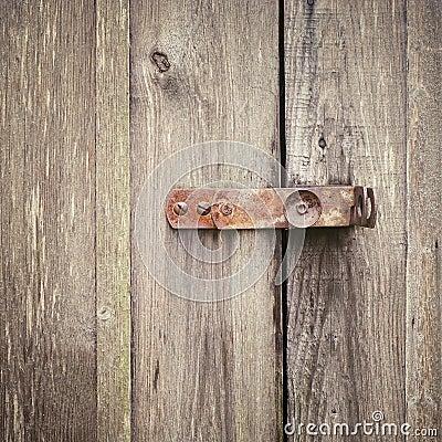 Free Wooden Door With Lock Stock Image - 72067231
