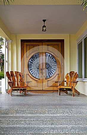 Wooden Doors and Chairs