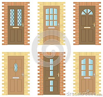 Wooden Doors Set