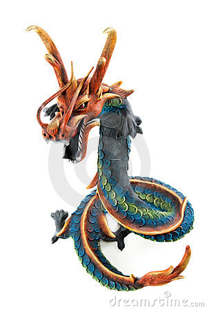 Free Wooden Dragon Royalty Free Stock Image - 14692386