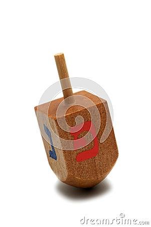 Wooden dreidel  - hanukkah symbol