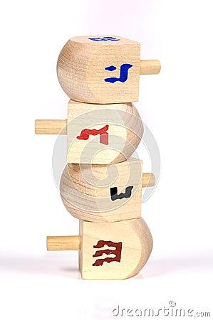 Wooden Dreidels