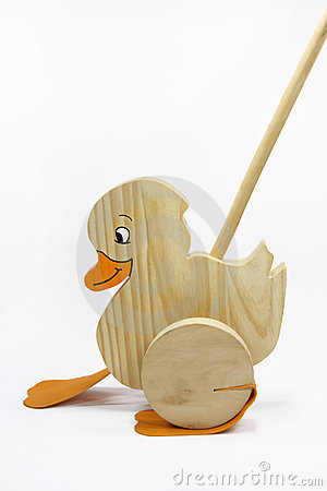 wooden duck toy on a stick 3