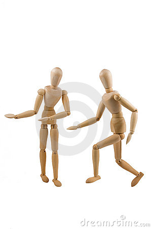 Wooden Dummy Invite Stock Photo - Image: 16917830