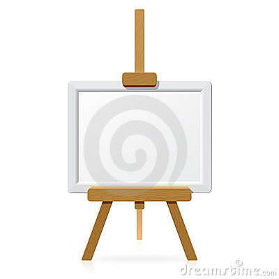 Free Wooden Easel With Blank Canvas Royalty Free Stock Images - 10163929