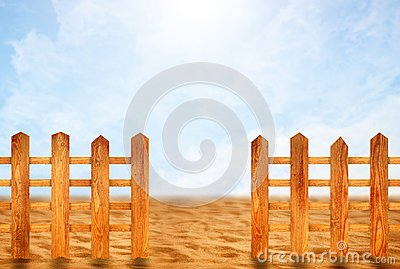 Wooden fence