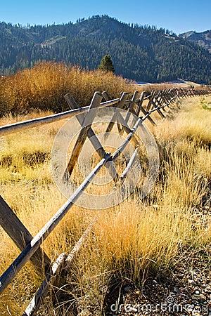 Free Wooden Fence California Mountain Valley Stock Photos - 3609863