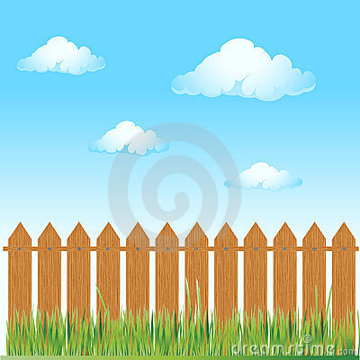 Free Wooden Fence, Summer Grass Stock Photography - 5359162