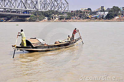 Wooden Ferry in Kolkata Editorial Image